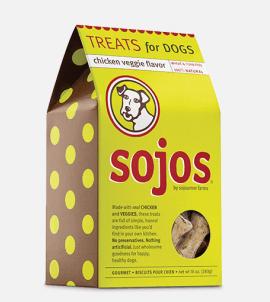 Sojos Dog Treats Chicken Veggie